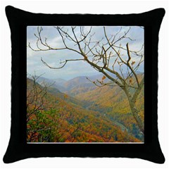 Way Above The Mountains Black Throw Pillow Case by Majesticmountain