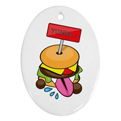 Burgeryumm Oval Ornament by Walands