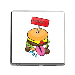 Burgeryumm Memory Card Reader With Storage (square)