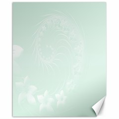 Pastel Green Abstract Flowers Canvas 16  X 20  (unframed) by BestCustomGiftsForYou