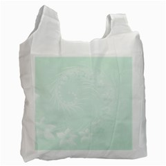 Pastel Green Abstract Flowers Recycle Bag (one Side)