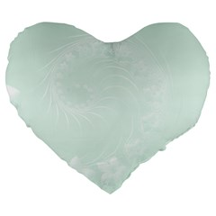 Pastel Green Abstract Flowers 19  Premium Heart Shape Cushion by BestCustomGiftsForYou