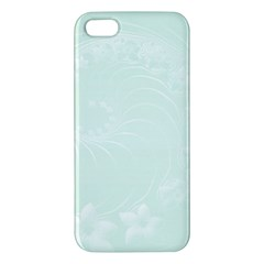 Pastel Green Abstract Flowers Iphone 5 Premium Hardshell Case by BestCustomGiftsForYou