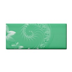 Light Green Abstract Flowers Hand Towel by BestCustomGiftsForYou