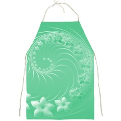 Light Green Abstract Flowers Apron
