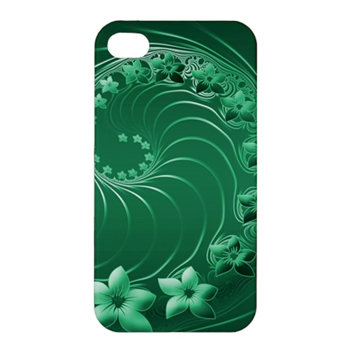 Green Abstract Flowers Apple iPhone 4/4S Hardshell Case