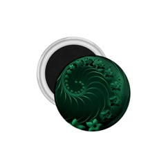 Dark Green Abstract Flowers 1 75  Button Magnet
