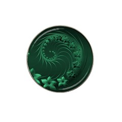 Dark Green Abstract Flowers Golf Ball Marker (for Hat Clip)