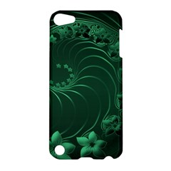 Dark Green Abstract Flowers Apple Ipod Touch 5 Hardshell Case by BestCustomGiftsForYou
