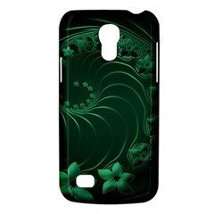Dark Green Abstract Flowers Samsung Galaxy S4 Mini Hardshell Case  by BestCustomGiftsForYou
