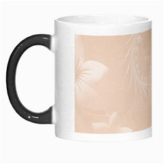 Pastel Brown Abstract Flowers Morph Mug by BestCustomGiftsForYou