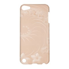 Pastel Brown Abstract Flowers Apple Ipod Touch 5 Hardshell Case by BestCustomGiftsForYou