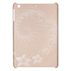 Pastel Brown Abstract Flowers Apple Ipad Mini Hardshell Case by BestCustomGiftsForYou
