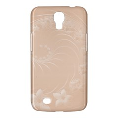 Pastel Brown Abstract Flowers Samsung Mega 6 3  I9200 by BestCustomGiftsForYou