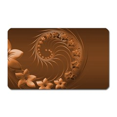 Brown Abstract Flowers Magnet (rectangular) by BestCustomGiftsForYou