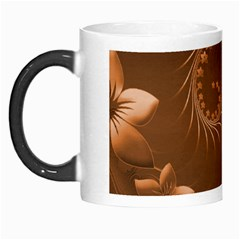 Brown Abstract Flowers Morph Mug by BestCustomGiftsForYou