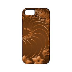 Brown Abstract Flowers Apple Iphone 5 Classic Hardshell Case (pc+silicone) by BestCustomGiftsForYou