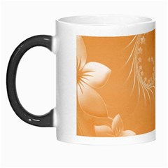 Orange Abstract Flowers Morph Mug by BestCustomGiftsForYou