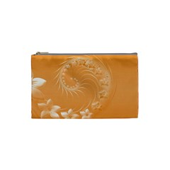 Orange Abstract Flowers Cosmetic Bag (small) by BestCustomGiftsForYou