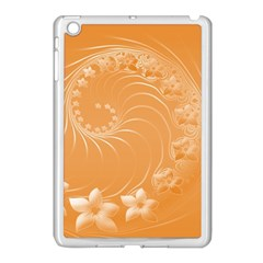 Orange Abstract Flowers Apple Ipad Mini Case (white) by BestCustomGiftsForYou