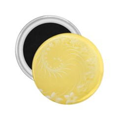 Yellow Abstract Flowers 2 25  Button Magnet by BestCustomGiftsForYou