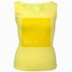 Yellow Abstract Flowers Womens  Tank Top (yellow) by BestCustomGiftsForYou