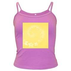 Yellow Abstract Flowers Spaghetti Top (colored) by BestCustomGiftsForYou