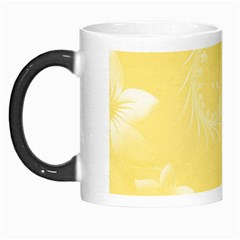 Yellow Abstract Flowers Morph Mug by BestCustomGiftsForYou