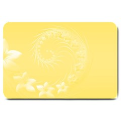 Yellow Abstract Flowers Large Door Mat by BestCustomGiftsForYou