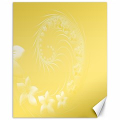 Yellow Abstract Flowers Canvas 11  X 14  9 (unframed) by BestCustomGiftsForYou