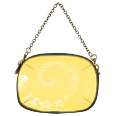 Yellow Abstract Flowers Chain Purse (two Side) by BestCustomGiftsForYou