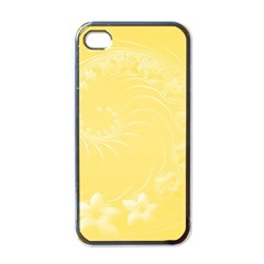 Yellow Abstract Flowers Apple Iphone 4 Case (black) by BestCustomGiftsForYou