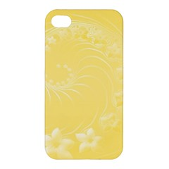 Yellow Abstract Flowers Apple Iphone 4/4s Premium Hardshell Case by BestCustomGiftsForYou