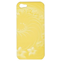 Yellow Abstract Flowers Apple Iphone 5 Hardshell Case by BestCustomGiftsForYou