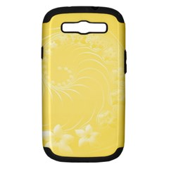 Yellow Abstract Flowers Samsung Galaxy S Iii Hardshell Case (pc+silicone) by BestCustomGiftsForYou