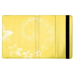 Yellow Abstract Flowers Apple Ipad 2 Flip Case by BestCustomGiftsForYou