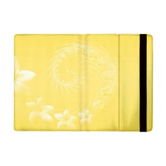 Yellow Abstract Flowers Apple Ipad Mini Flip Case by BestCustomGiftsForYou