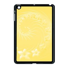Yellow Abstract Flowers Apple Ipad Mini Case (black) by BestCustomGiftsForYou