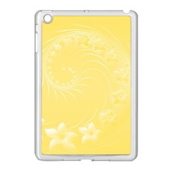 Yellow Abstract Flowers Apple Ipad Mini Case (white) by BestCustomGiftsForYou