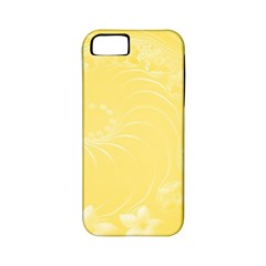Yellow Abstract Flowers Apple Iphone 5 Classic Hardshell Case (pc+silicone) by BestCustomGiftsForYou