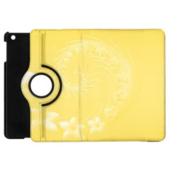Yellow Abstract Flowers Apple Ipad Mini Flip 360 Case by BestCustomGiftsForYou