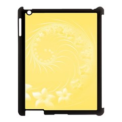 Yellow Abstract Flowers Apple Ipad 3/4 Case (black) by BestCustomGiftsForYou