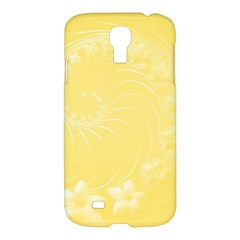 Yellow Abstract Flowers Samsung Galaxy S4 I9500 Hardshell Case by BestCustomGiftsForYou