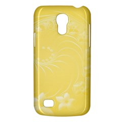 Yellow Abstract Flowers Samsung Galaxy S4 Mini Hardshell Case  by BestCustomGiftsForYou