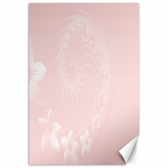 Light Pink Abstract Flowers Canvas 12  X 18  (unframed) by BestCustomGiftsForYou
