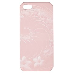 Light Pink Abstract Flowers Apple Iphone 5 Hardshell Case by BestCustomGiftsForYou