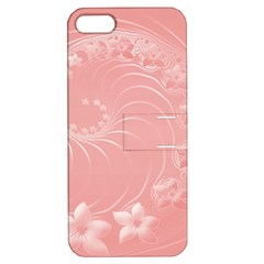 Pink Abstract Flowers Apple Iphone 5 Hardshell Case With Stand by BestCustomGiftsForYou