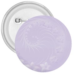 Pastel Violet Abstract Flowers 3  Button by BestCustomGiftsForYou