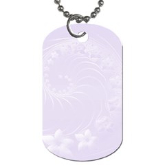 Pastel Violet Abstract Flowers Dog Tag (one Sided) by BestCustomGiftsForYou