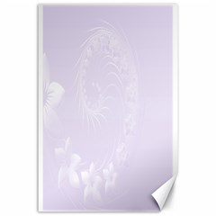 Pastel Violet Abstract Flowers Canvas 24  X 36  (unframed) by BestCustomGiftsForYou